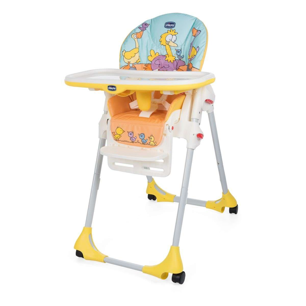 Polly Easy High Chair 4 Wheels Chicco