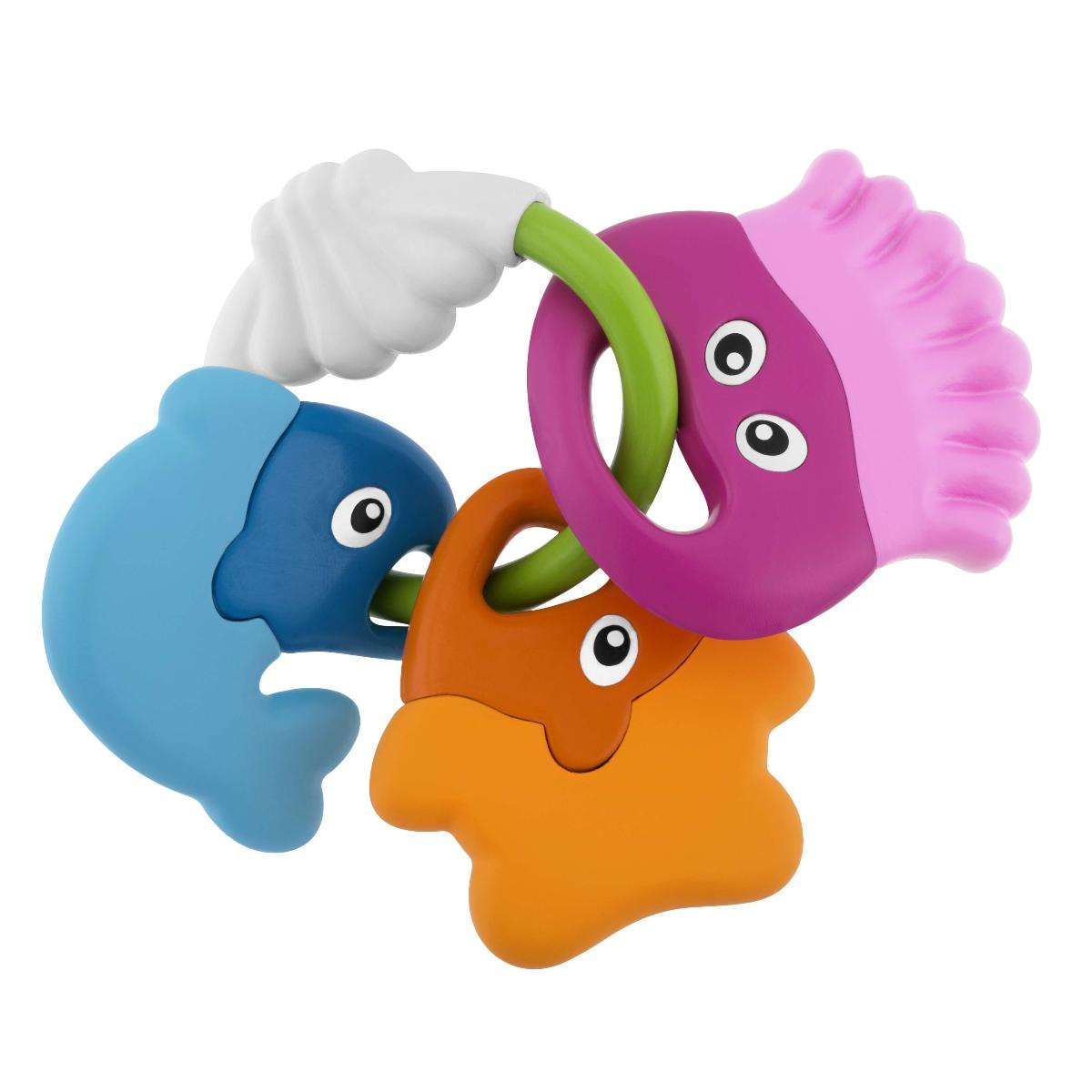 Fish Rattle And Teether Chicco Rainbow Spinner Home